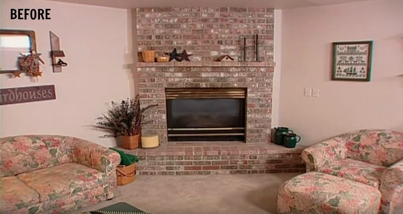 the fireplace before doug wilson trading spaces