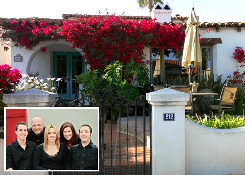 Bob and Veronica's Spanish-style home in San Clemente