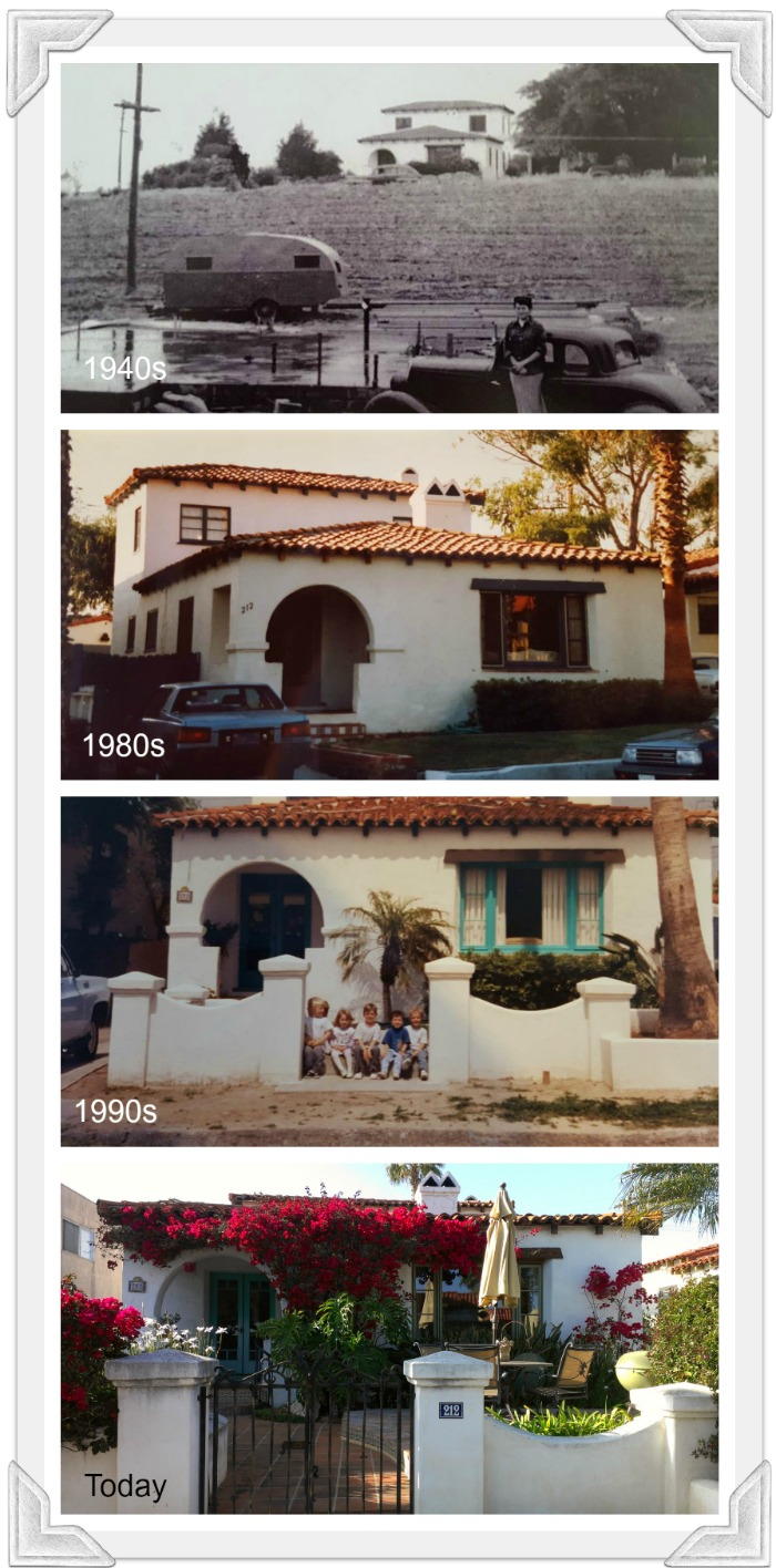 Bob's Spanish-style home over the decades