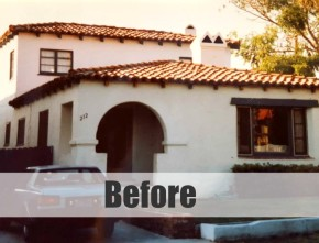 Spanish-style house BEFORE