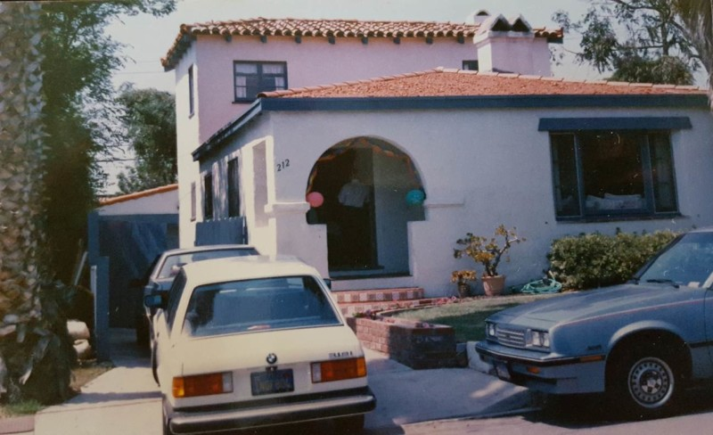 old photos of Bob's Spanish-style home