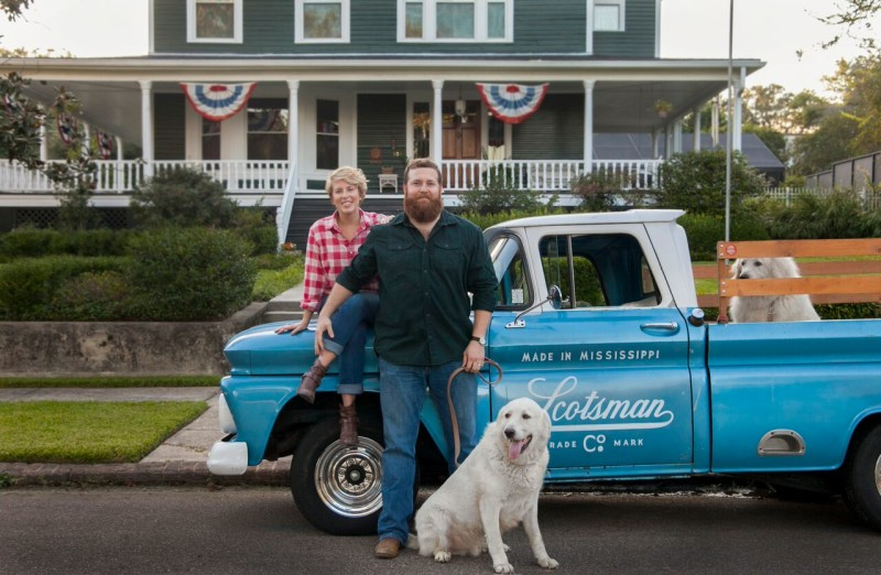 Erin and Ben Napier on HGTV Home Town