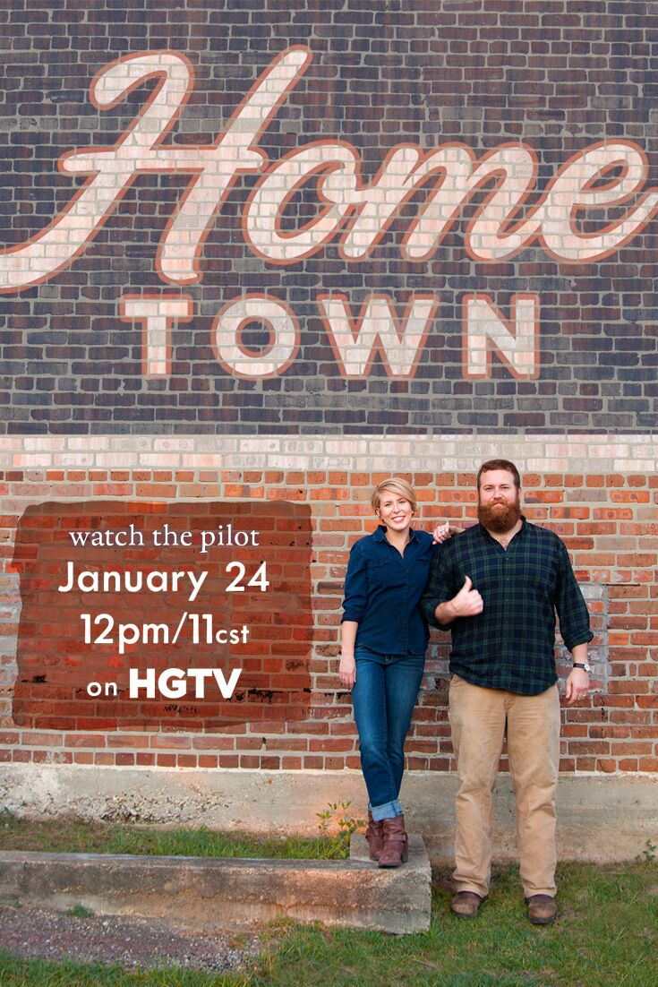 Erin and Ben Napier promotional photo for HGTV\'s Home Town