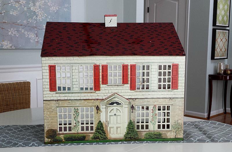 Playsteel Vintage Tin Dollhouse 1948 Woolworth's