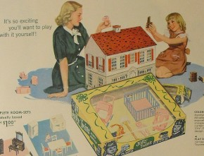 Vintage Woolworth's Ad for Playsteel Tin Dollhouse 1948