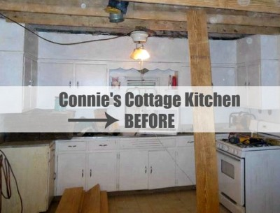 Connie Cunningham's Gosherd Valley Cottage Kitchen BEFORE