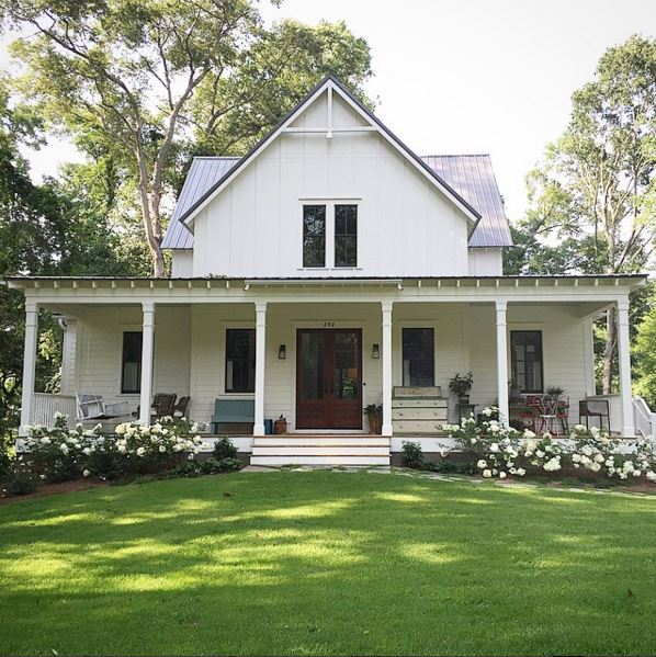 Southern living house plans four gables for Southern farmhouse