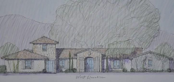 Steve Giannetti's original sketch of Patina Farm exterior