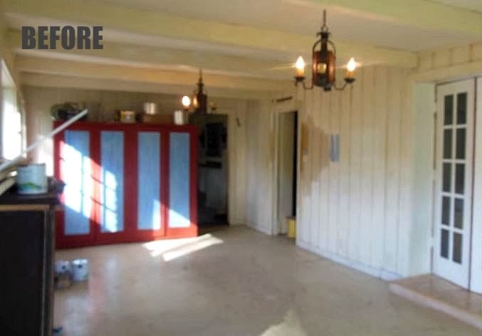 white cottage living room before