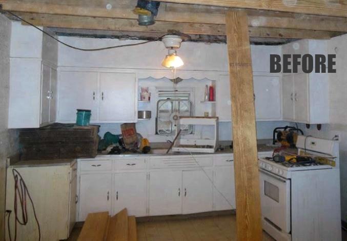 white kitchen during remodel