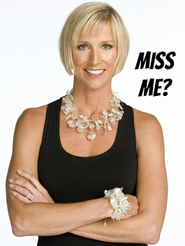 Candice Olson with text asking Miss Me