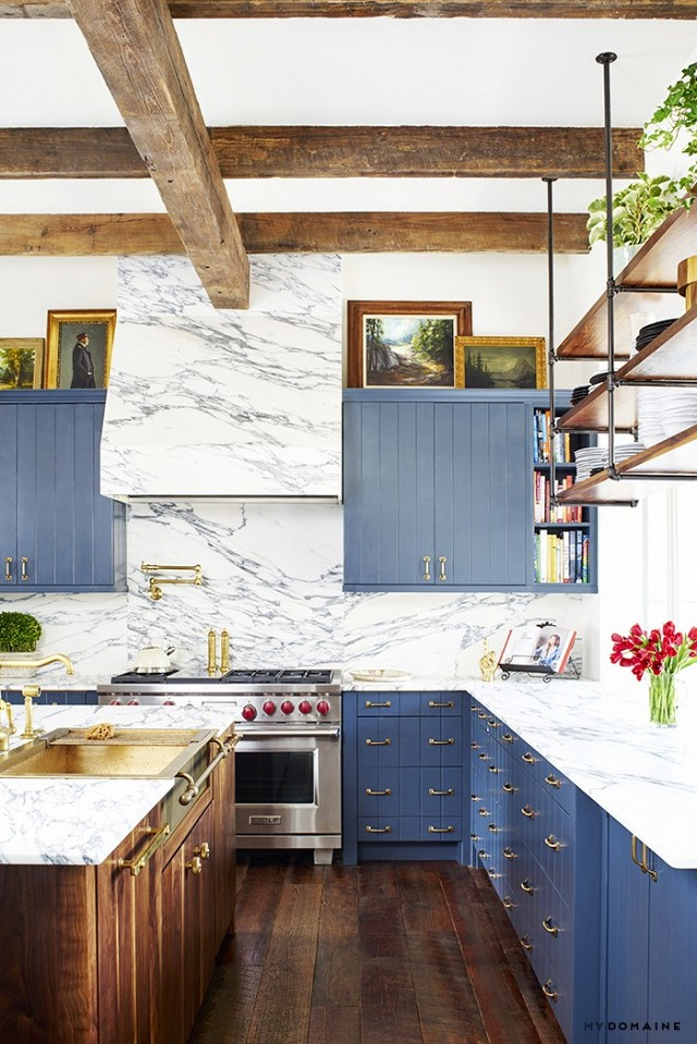 Marvelous The Blue Kitchen In Brooklyn Deckers Texas Farmhouse Beutiful Home Inspiration Ommitmahrainfo