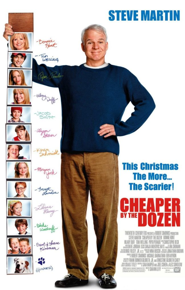Cheaper by the Dozen movie Steve Martin