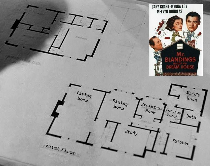 Mr. Blandings Builds His Dream House Floor Plans from Movie