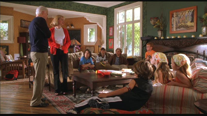 screenshot from cheaper by the dozen green living room