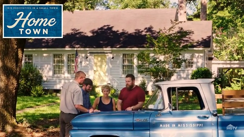 HGTV Home Town Erin Ben and blue Scotsman pickup