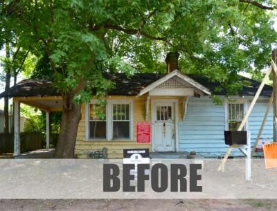 Poet's Cottage Exterior BEFORE via Carl Mattison Design-featured