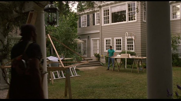 "Back of the house in ""Guess Who"" movie"