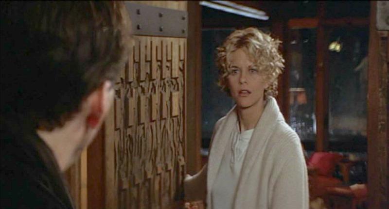 Meg Ryan opening cabin door