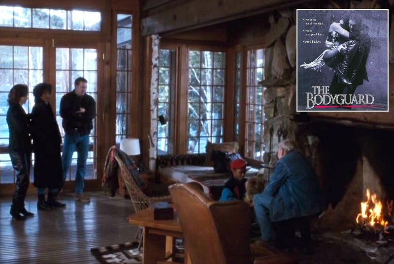 The Bodyguard movie house cabin