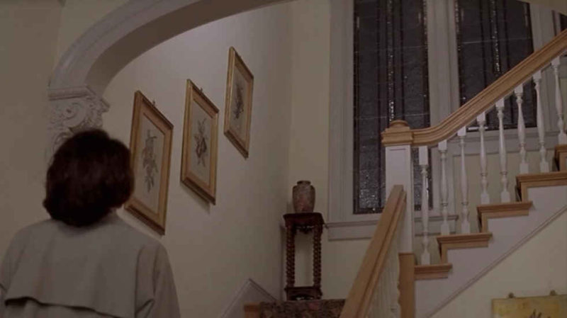 Looking up the staircase of the house in Mrs. Doubtfire