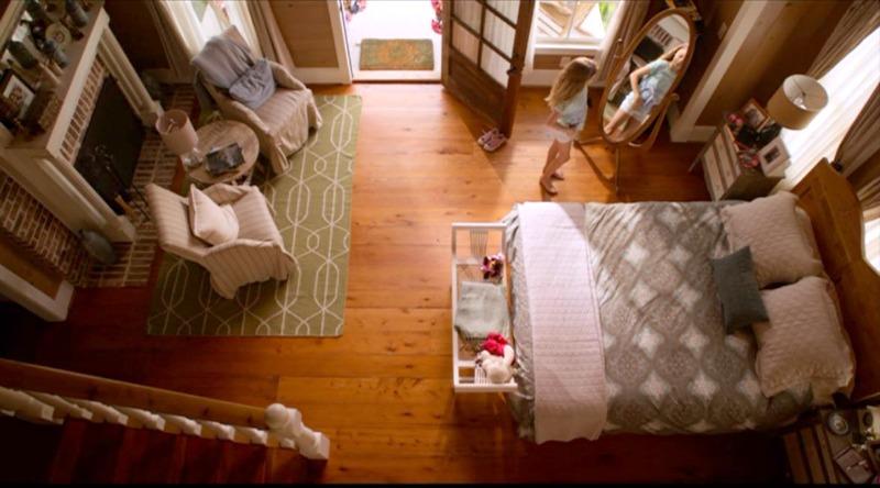 Overhead view of bedroom from loft