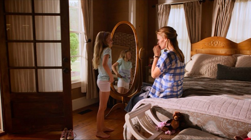 Full-length mirror in bedroom