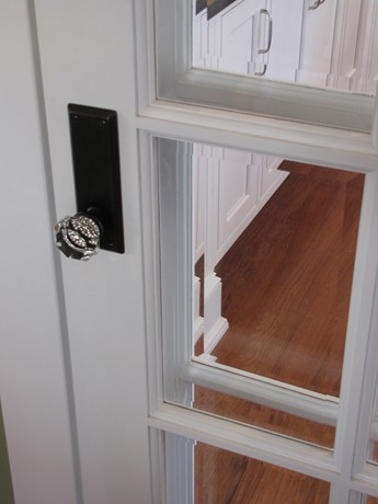 glass doorknobs in new house
