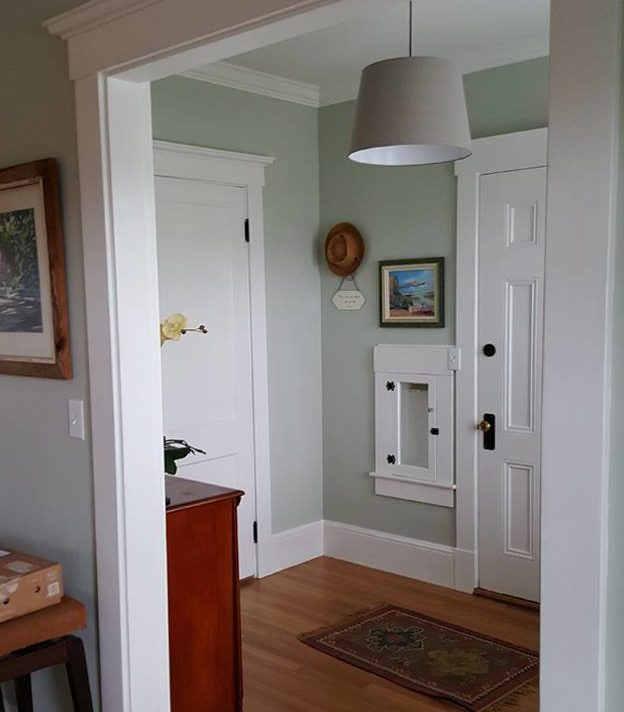 Remodeled entry hall with fresh paint