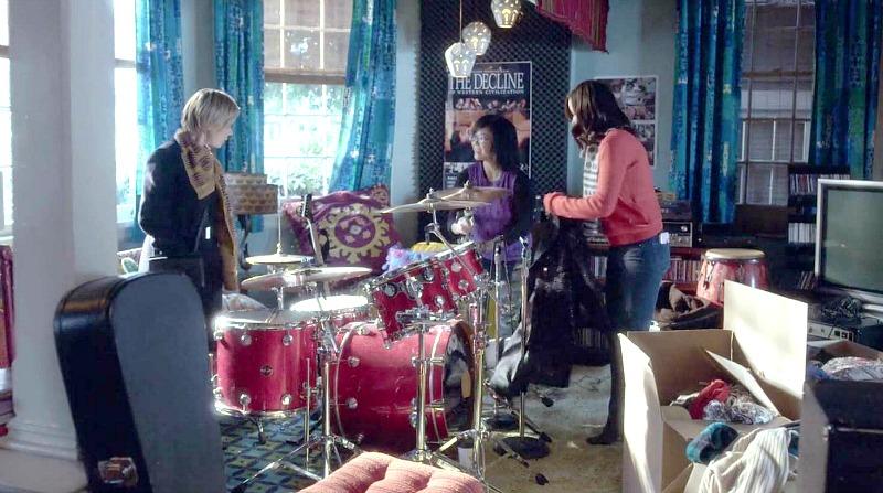 Lane playing drums