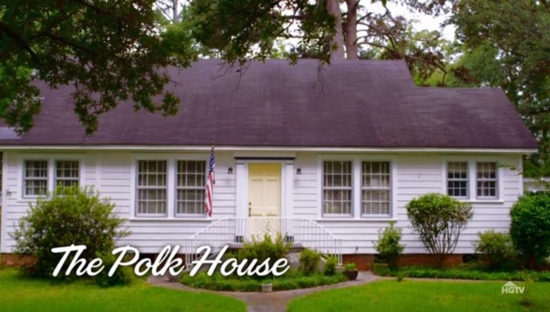 Polk house before remodel on Home Town