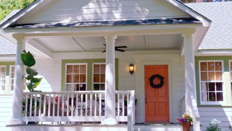 new porch coral front door HGTV Home Town