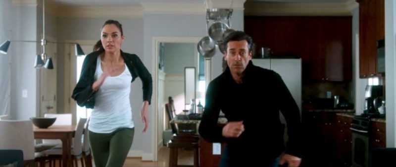 Gal Gadot Jon Hamm fleeing kitchen Joneses movie