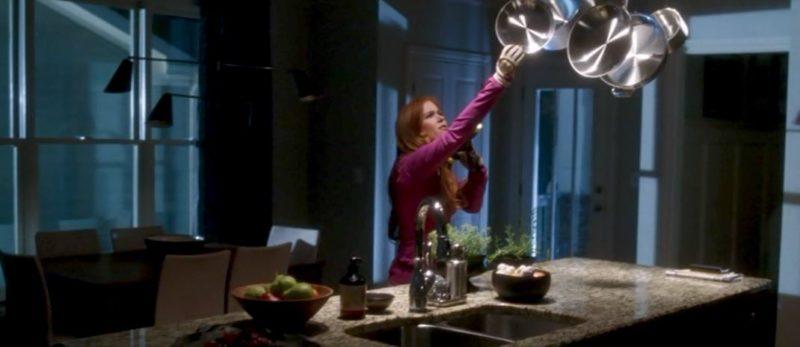 Joneses kitchen pot rack