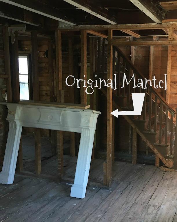 original antique mantel in house