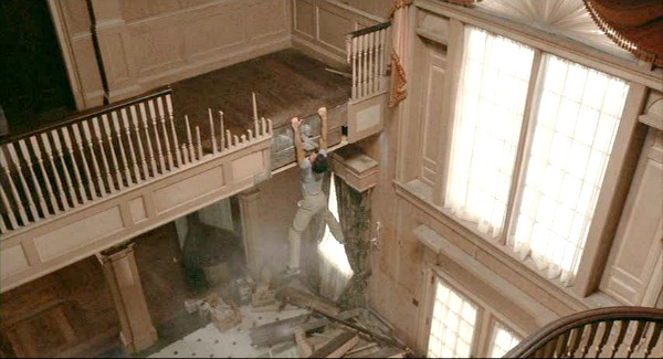 Screenshot of Tom Hanks falling over landing in Money Pit