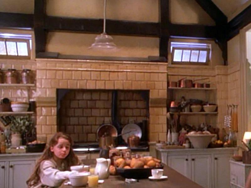 Aga range hearth Practical Magic kitchen