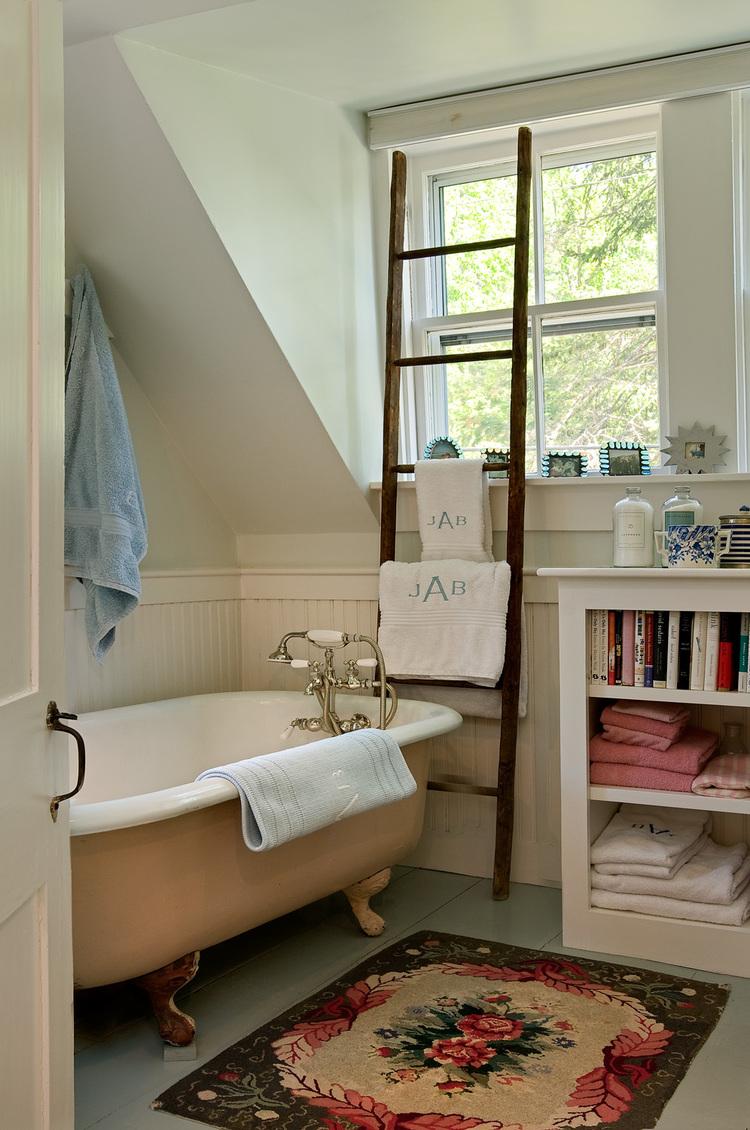 freestanding vintage tub in bathroom