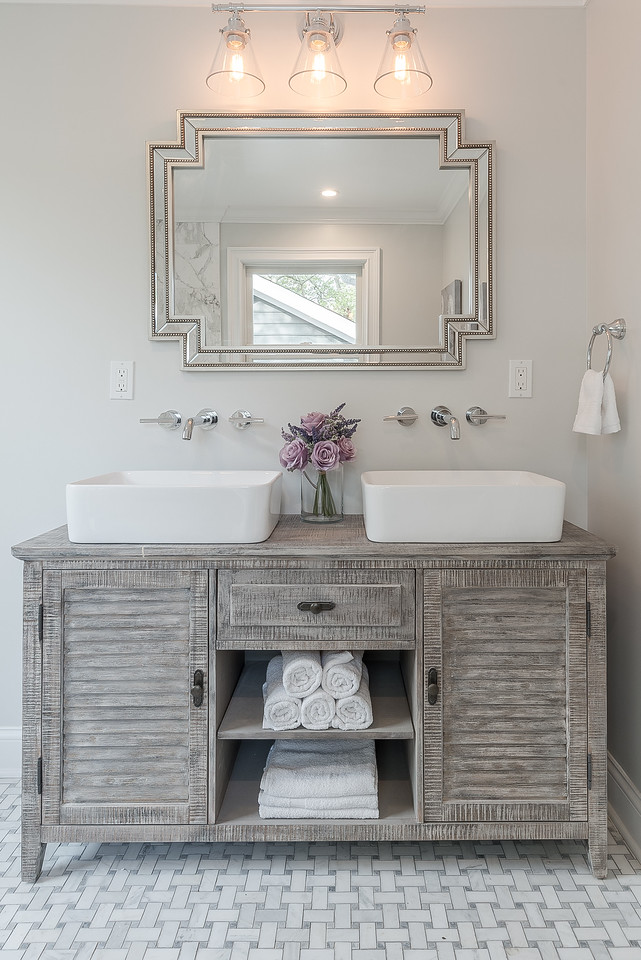 Small Cape Bathroom Vanity in Fairfield Connecticut