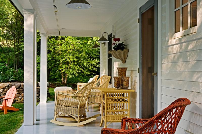 Small Cape back porch
