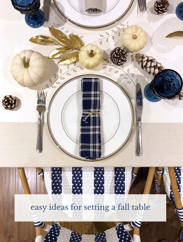 easy ideas for fall table settings