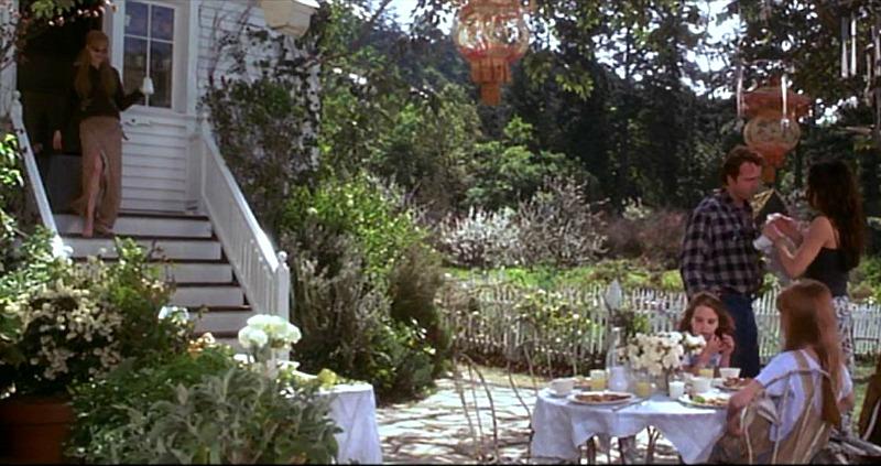 patio beside the garden