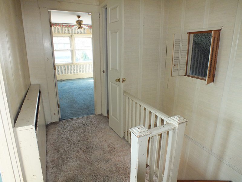 Bungalow upstairs hallway landing BEFORE Remodel