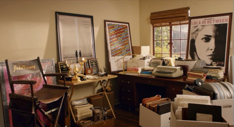 Home Again movie house John Kinney's office