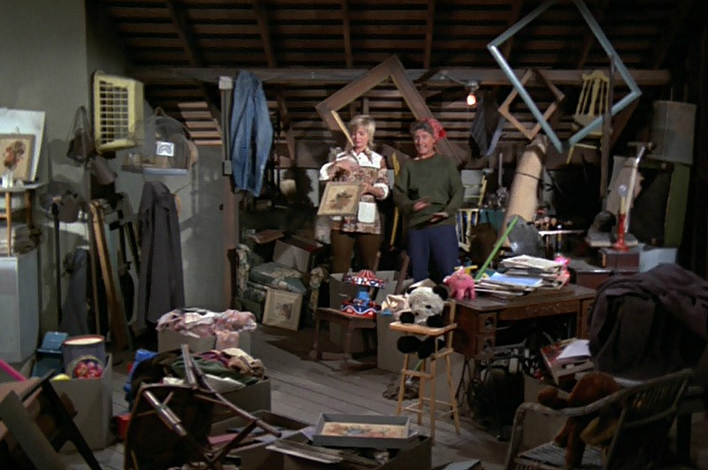 Brady Bunch attic before