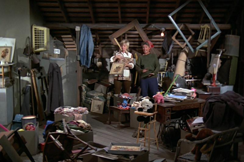 Brady Bunch attic before