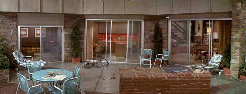 Brady Bunch back patio doors without glass