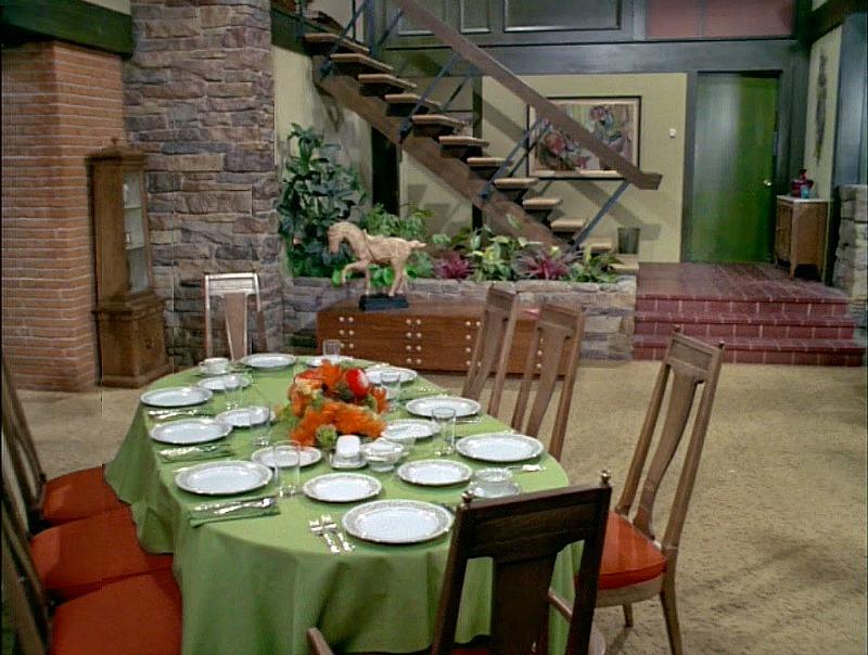 Brady Bunch dining room wide shot