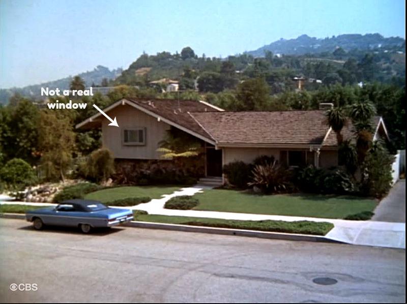 Brady Bunch house with fake window