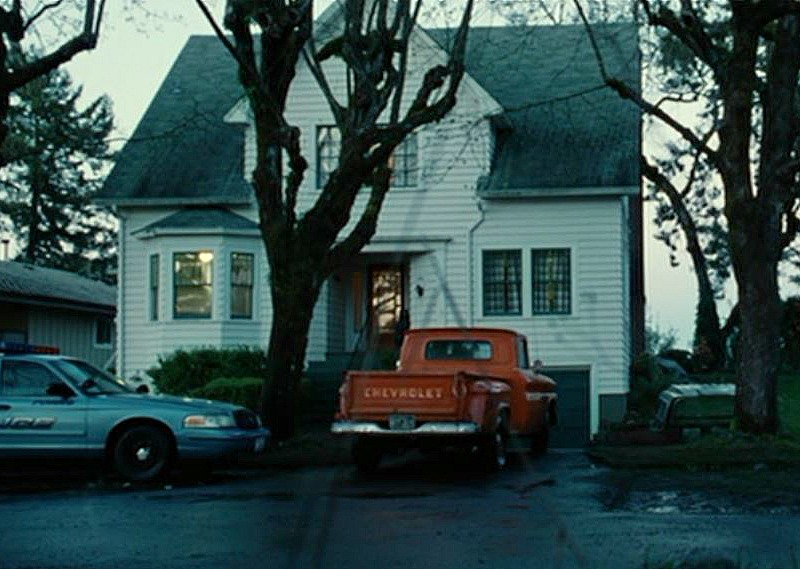 Bella Swan's House in Twilight movie with Red Pickup Truck